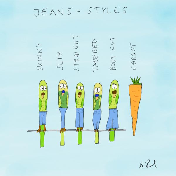 Jeans Styles als Cartoon