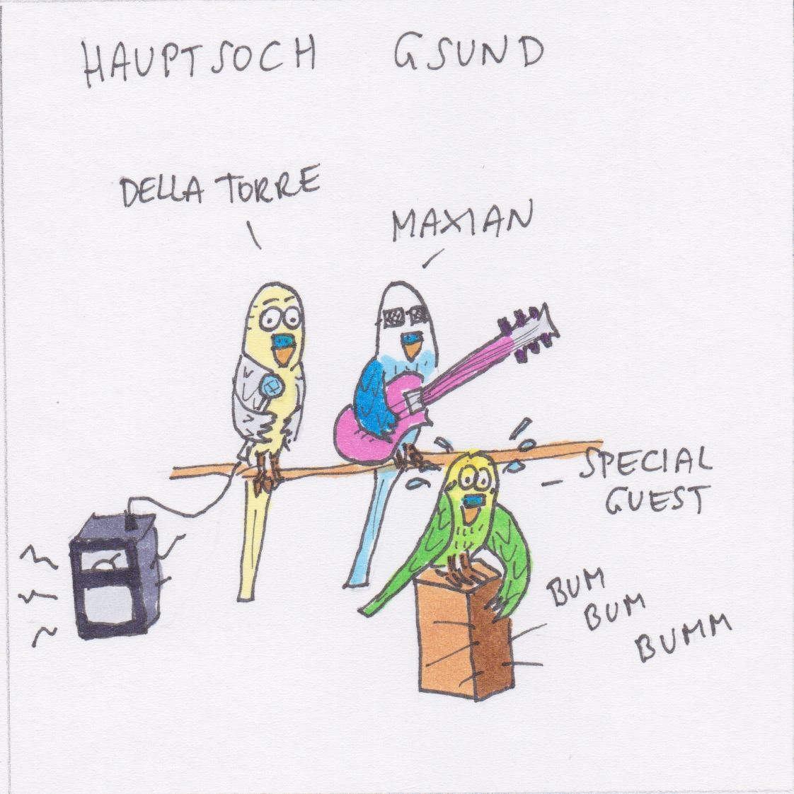 Urlaub, Cartoon, Cartoons, Comic, Comics, Wellensittich