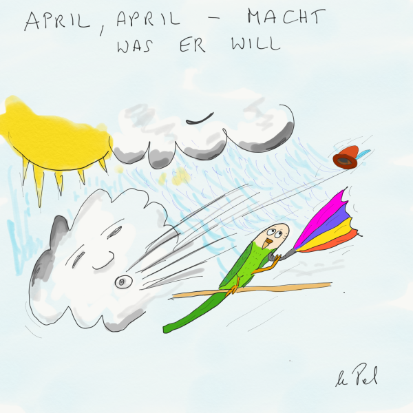 Aprilwetter Cartoon