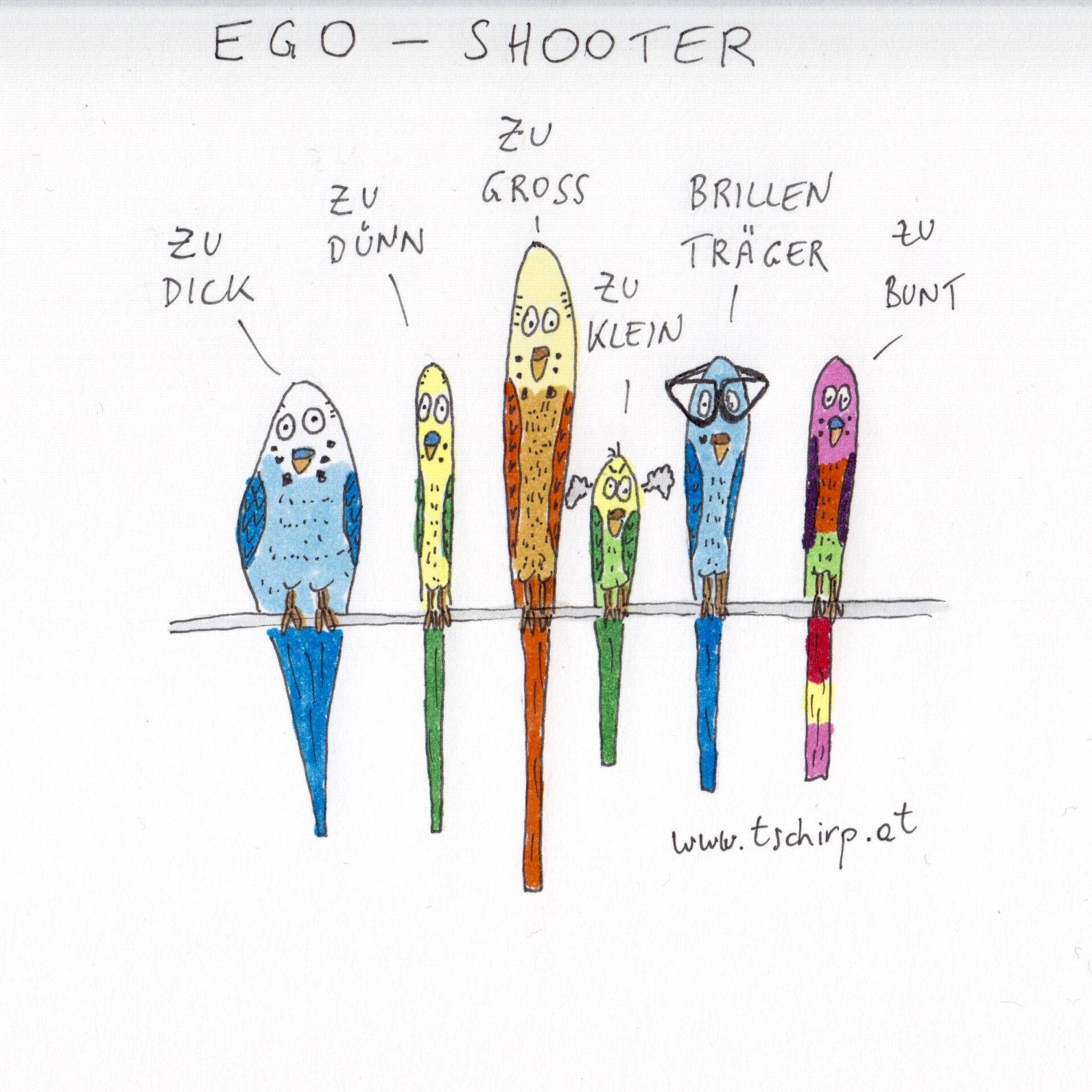 Egoshooter, Wellensittich, Ego-Shooter