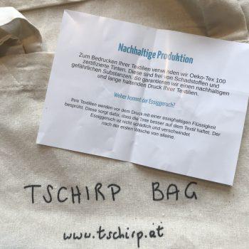 Stofftasche Nachhaltige Produktion Nachweis