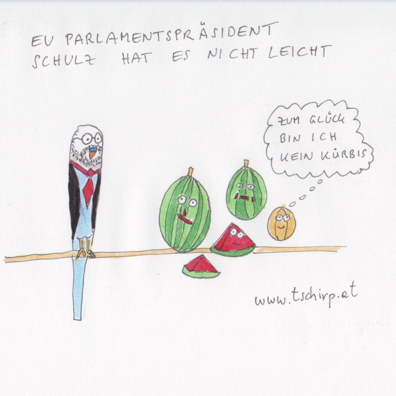 Schulz, Wallonen, CETA, Wellensittich