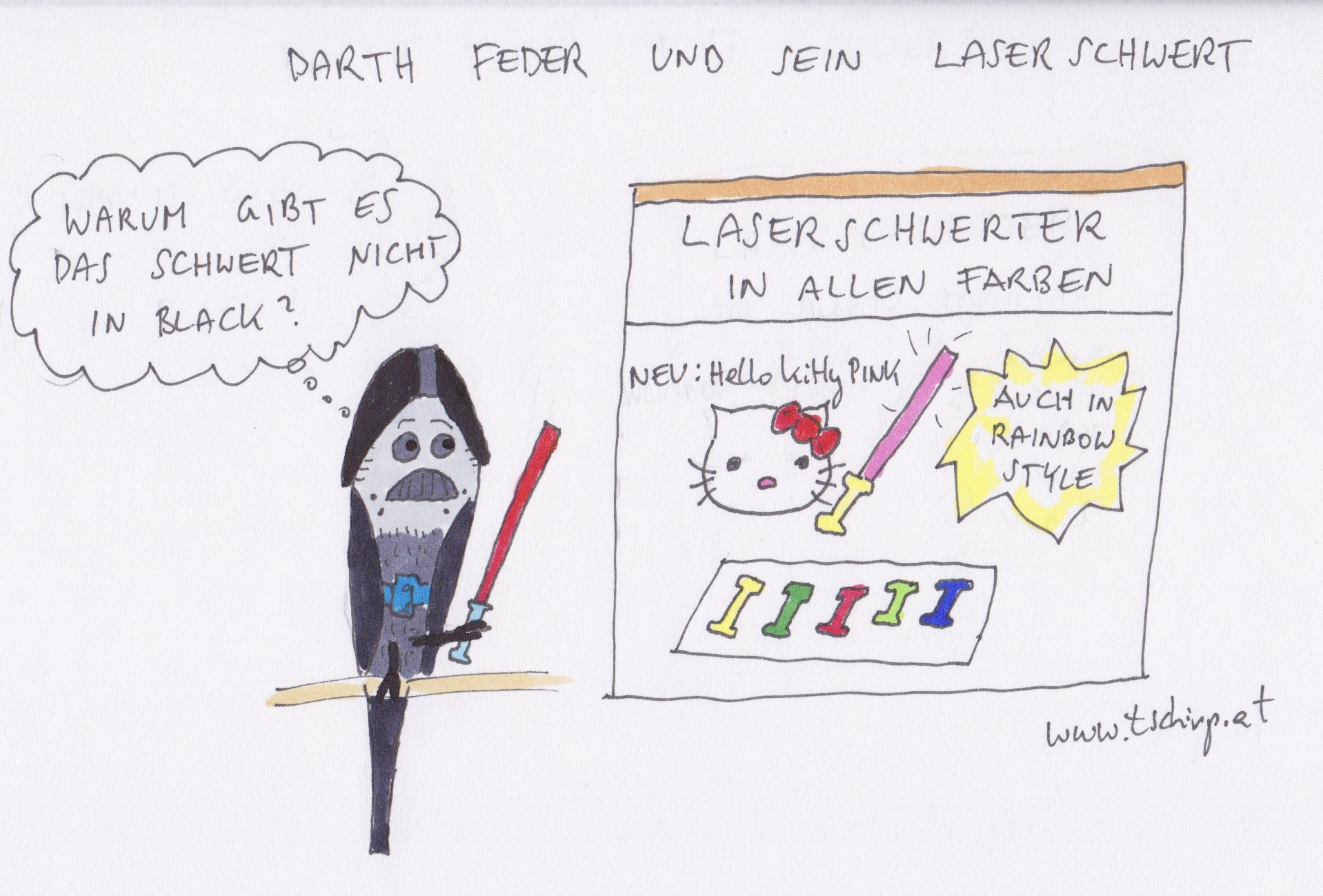 Star Wars, DarthVader, Cartoon, Cartoons, Comic, Comics, Wellensittich
