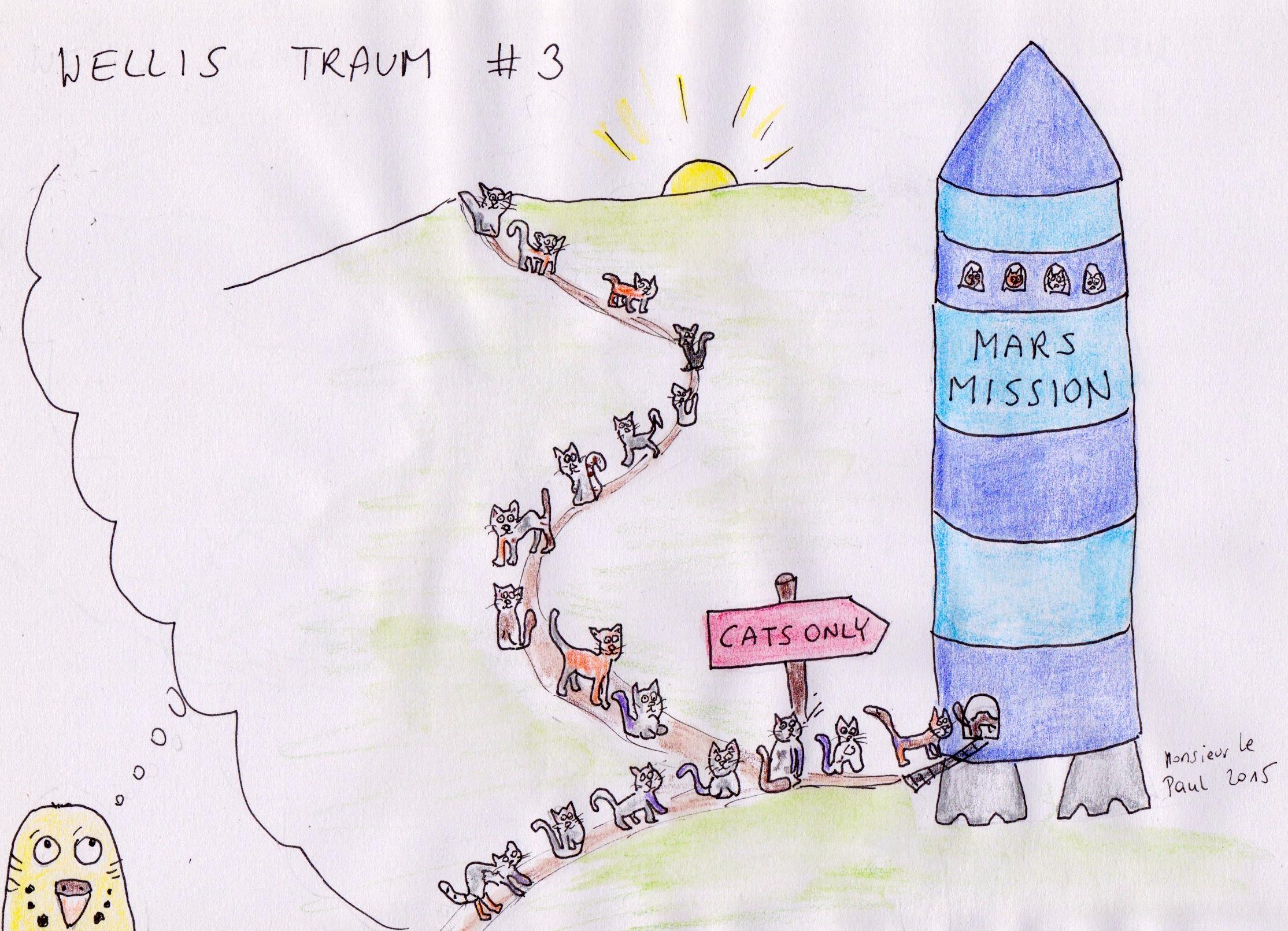 Wellensittiche, Mars, Mars-Mission, Marsmission