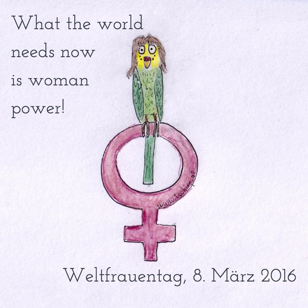Wellensittiche, Weltfrauentag